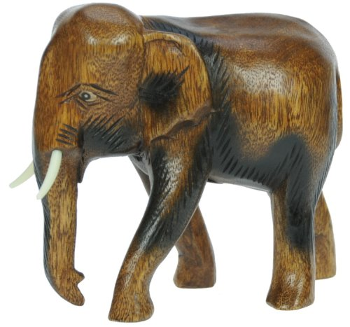 Have A Real Elephant In Their Home This Carved Wooden Miniature Will Do It Makes For Great Christmas Birthday Or Housewarming Present